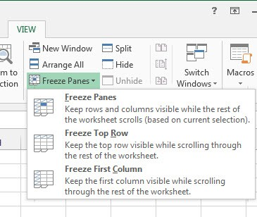 Freeze Excel Rows and Columns