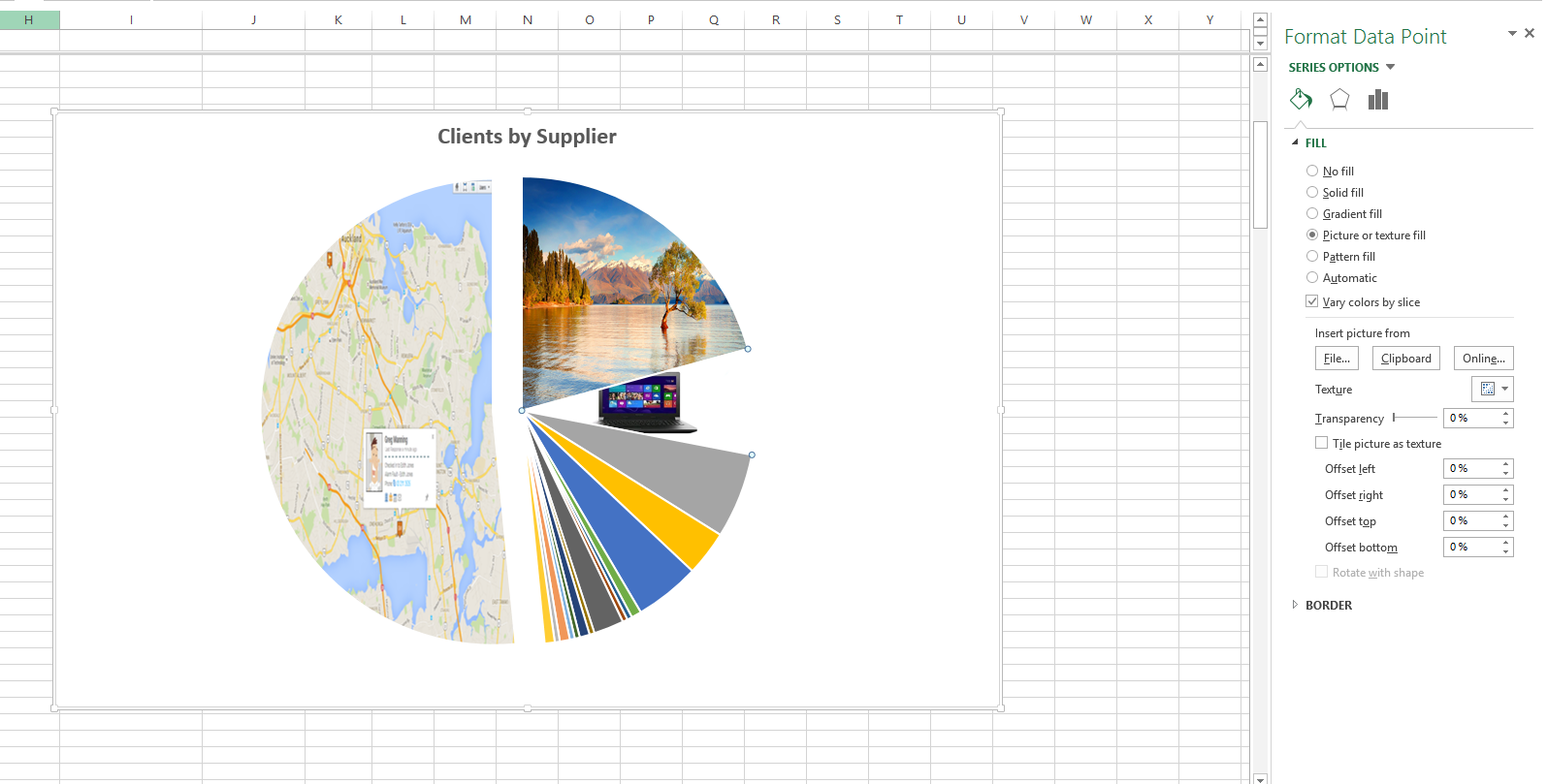 Use Graphics in Excel Charts
