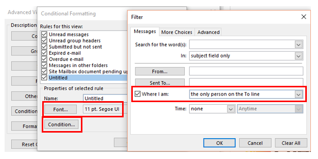 Get Automatic Colours in Outlook