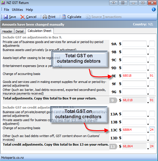NZ GST - Change of Accounting Basis from Payments Basis to Invoice