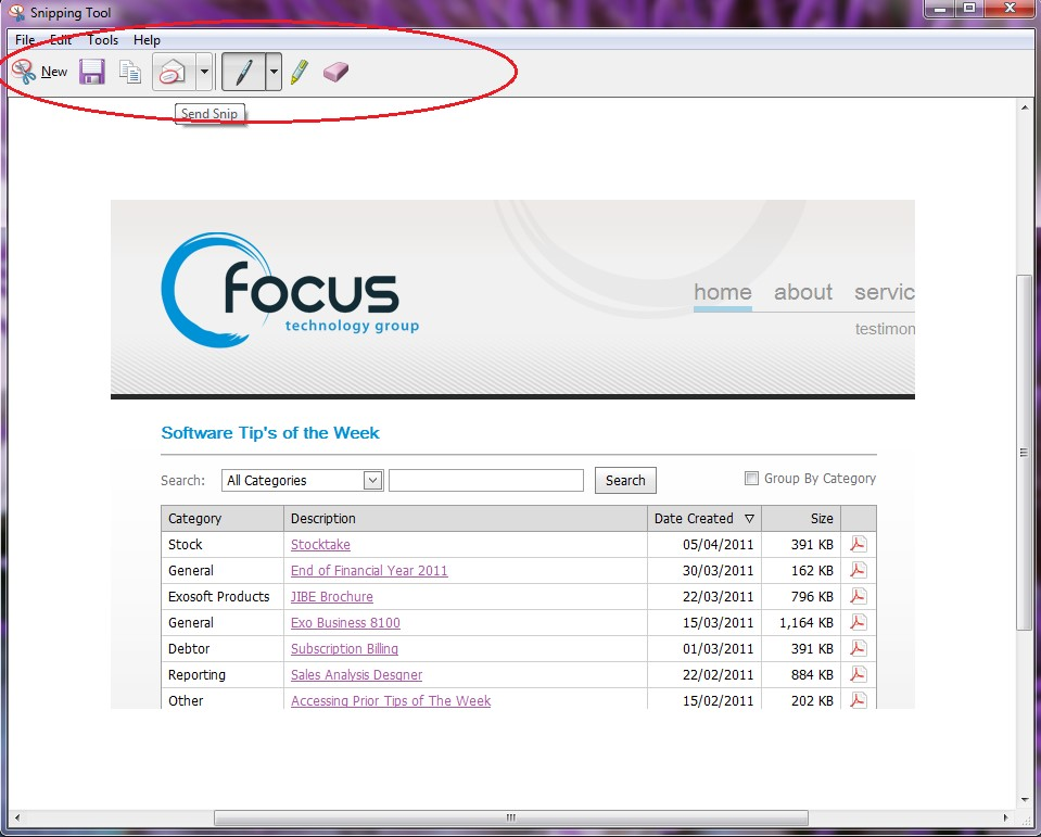 Computer Snipping Tool IT Tip | ERP Software NZ | IT Services & Consulting NZ | Focus