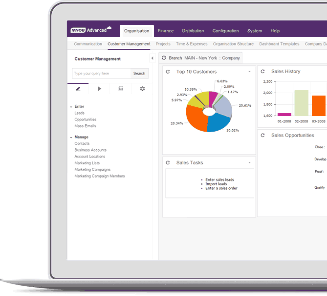 MYOB Advanced Business | Cloud ERP - Accounting Software