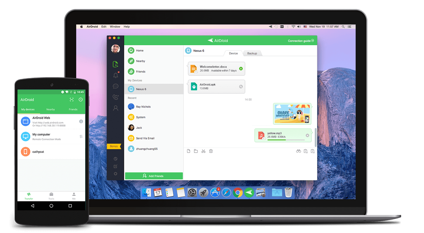 AirDroid: File Transfer Application